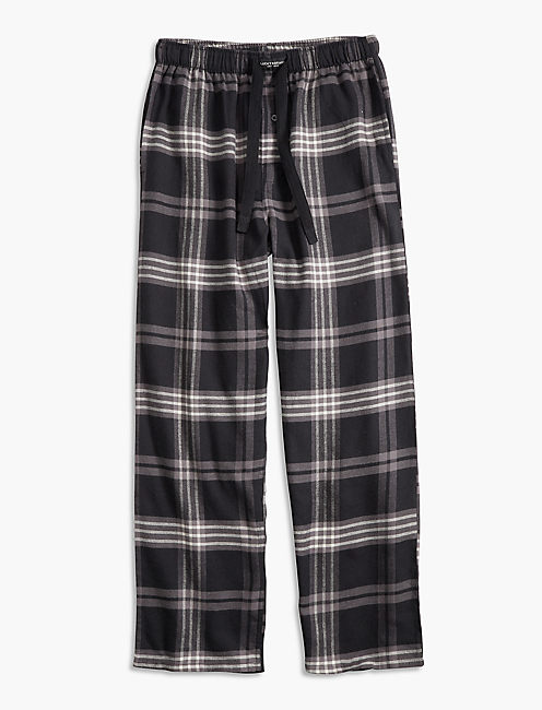 PLAID COTTON VISCOSE PANT, BLACK