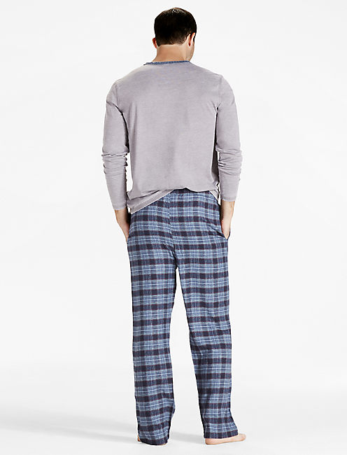 PLAID COTTON VISCOSE PANT,