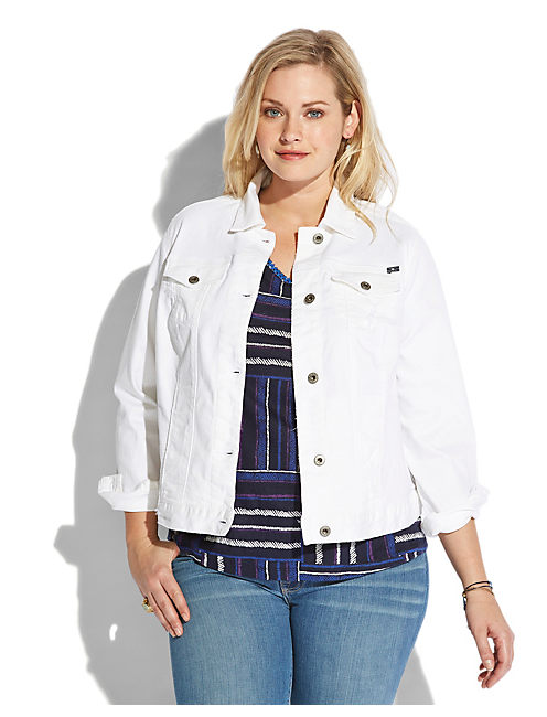 WHITE DIXIE DENIM JACKET, ALABASTER