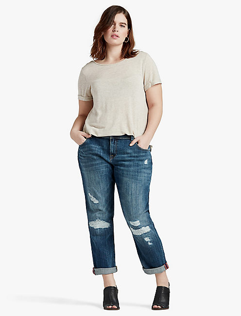 Plus Size Destroyed Jeans | Lucky Brand