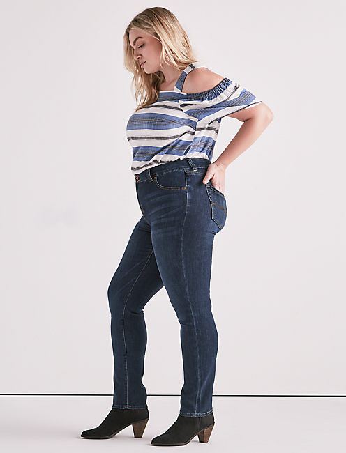 PLUS SIZE EMMA STRAIGHT LEG JEAN IN GOLETA,