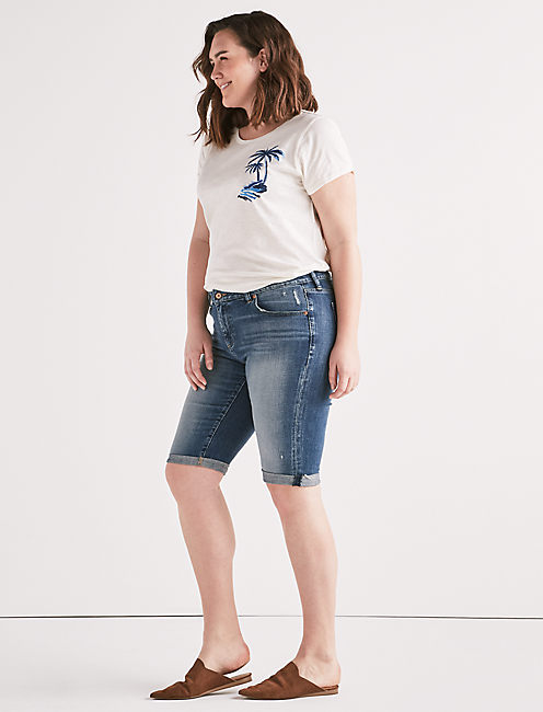 Lucky Ginger Mid Rise Bermuda Jean Short