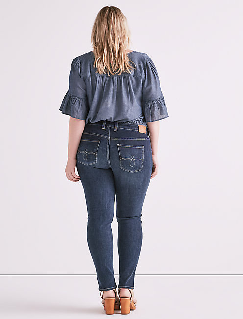 PLUS SIZE GINGER SKINNY JEAN IN BARRIER, BARRIER