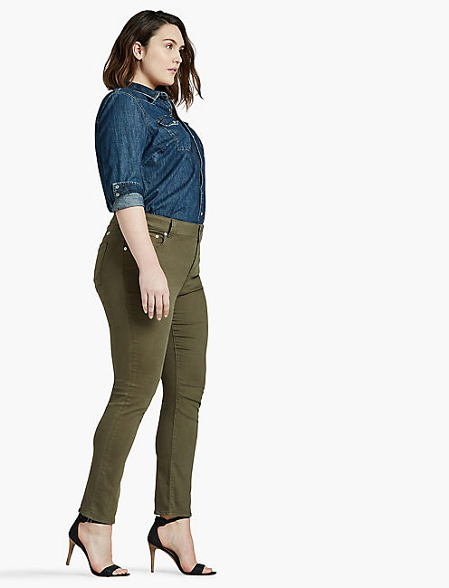 Lucky Plus Size Emma Straight Leg Jean In Desert Ivy