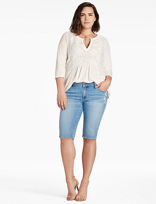 plus size bermuda shorts | lucky brand