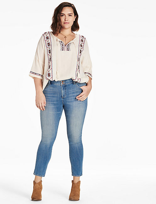 Lucky Plus Size Emma Straight Leg Jean In Composure