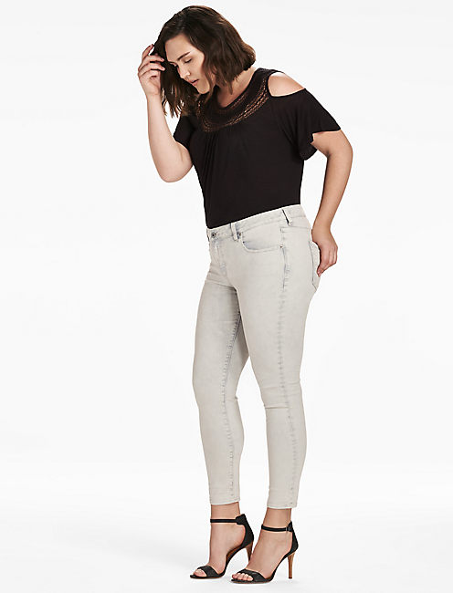PLUS SIZE GINGER SKINNY JEAN IN MISTY, MISTY