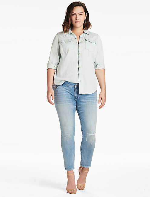 Lucky Plus Size Western Shirt In Sherman