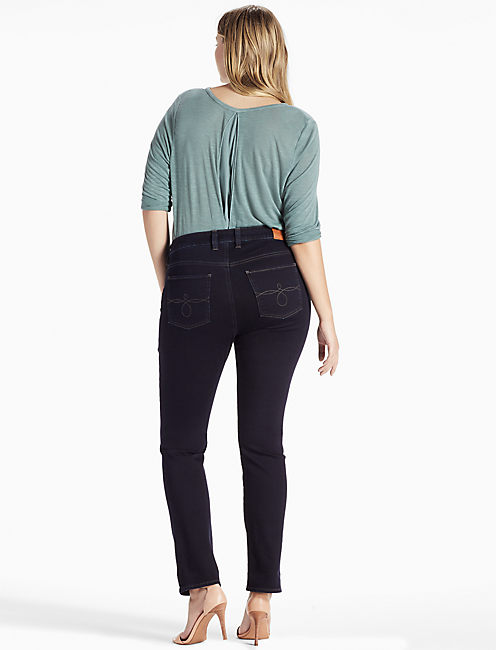 PLUS SIZE GINGER STRAIGHT LEG JEAN IN SIERRA, SIERRA