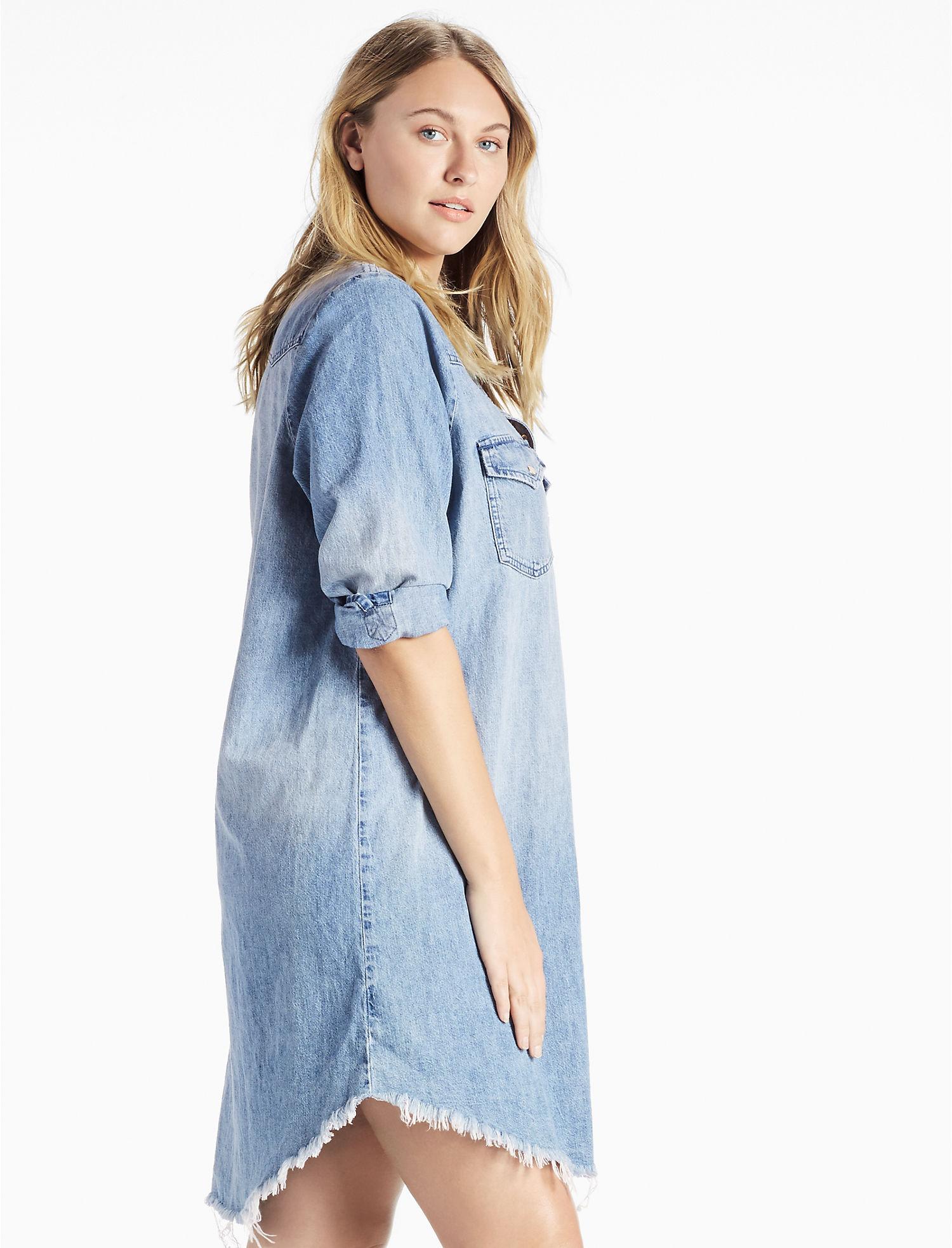 Plus Size Denim Western Shirt Dress | Lucky Brand