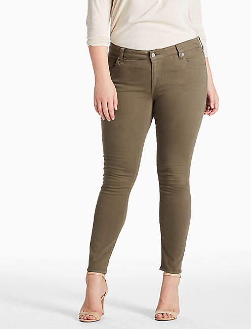PLUS SIZE GINGER SKINNY JEAN IN PINE HILL, PINE HILL