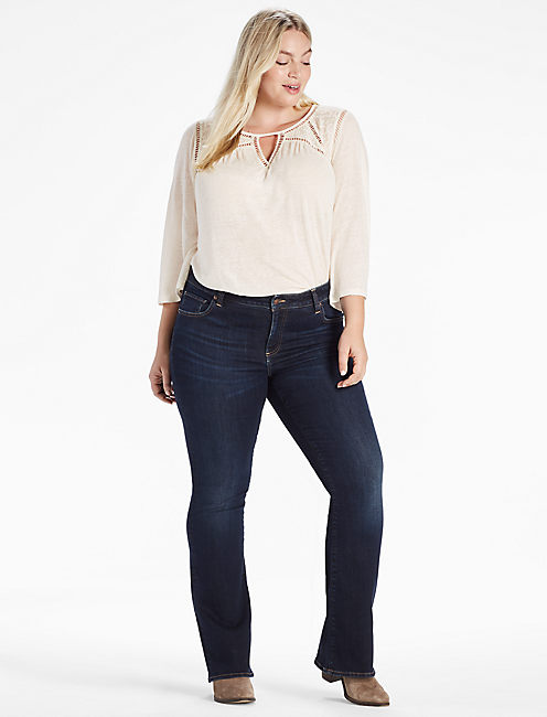PLUS SIZE GINGER BOOTCUT JEAN IN TWILIGHT BLUE, TWILIGHT BLUE