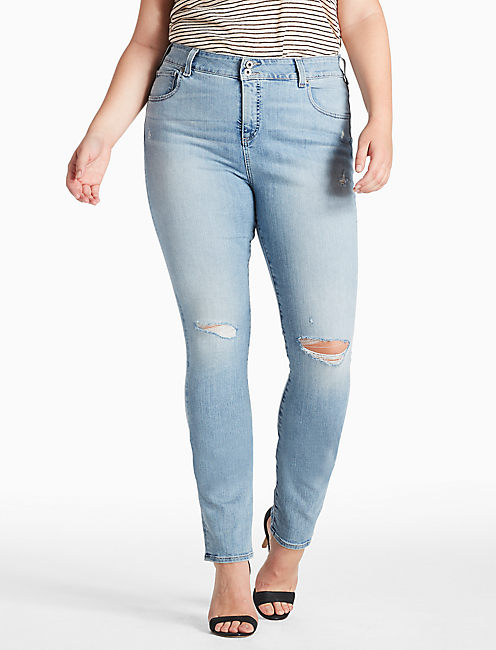 PLUS SIZE EMMA STRAIGHT LEG JEAN IN BURNET, BURNET