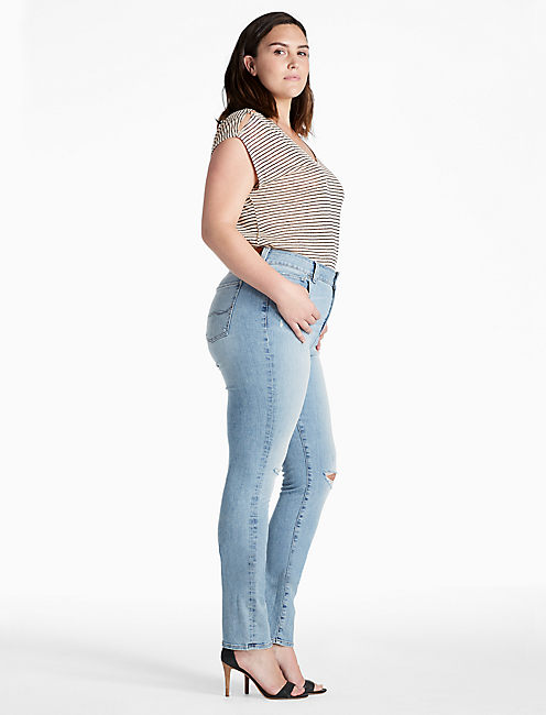 Lucky Plus Size Emma Straight Leg Jean In Burnet