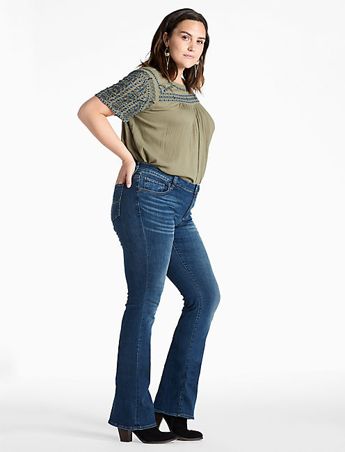 Lucky Plus Size Ginger Bootcut Jean In Rockwall