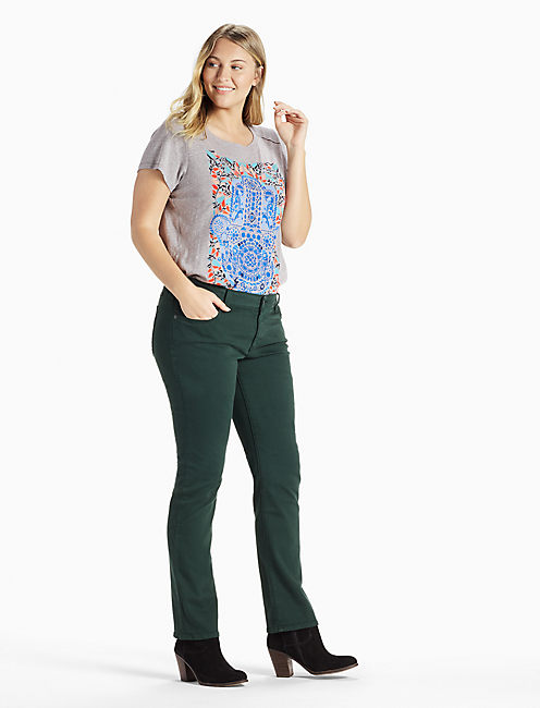 PLUS SIZE GINGER STRAIGHT LEG JEAN IN PLACITAS, PLACITAS