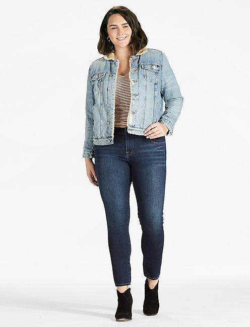 Lucky Plus Size Sherpa Trucker Jacket