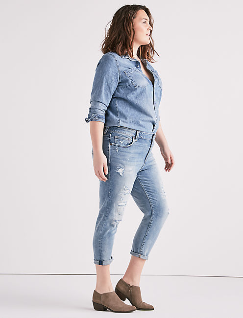 Lucky Plus Size Reese Boyfriend Jean In Kona