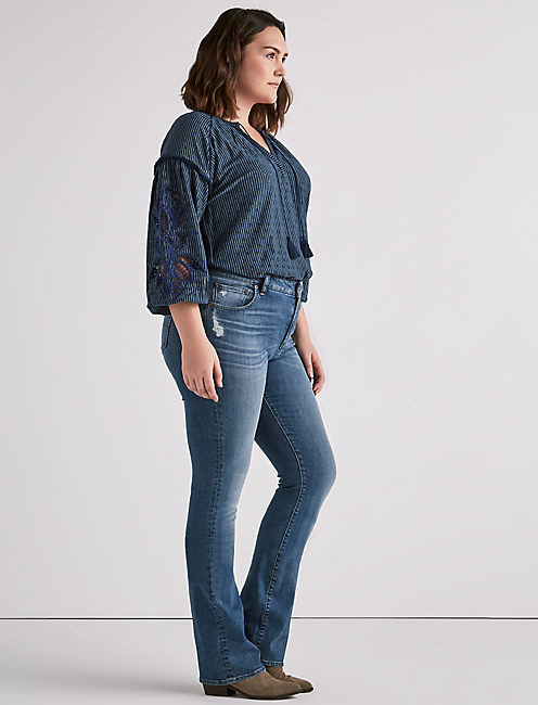 Lucky Plus Size Emma Bootcut Jean In Stow