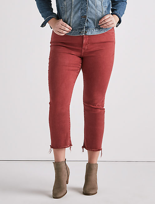 PLUS SIZE EMMA CROP JEAN IN LA CARA,