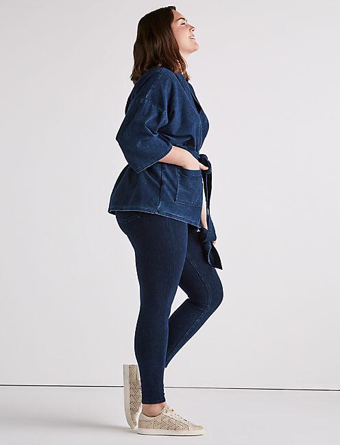 Lucky Plus Size Dark Knit Kimono Jacket