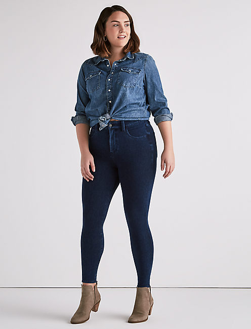 Lucky Plus Size Emma Knit Legging Jean In Arbor