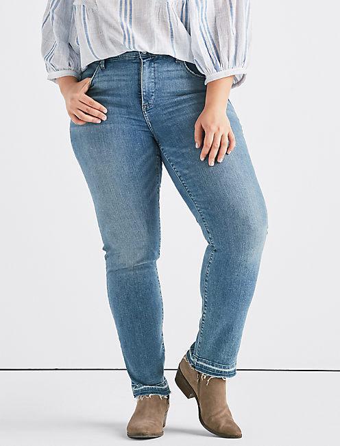 e0515765334 Plus Hayden High Rise Straight Jean