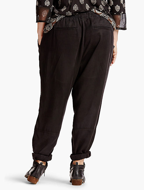 TENCEL CARGO PANT, 001 LUCKY BLACK