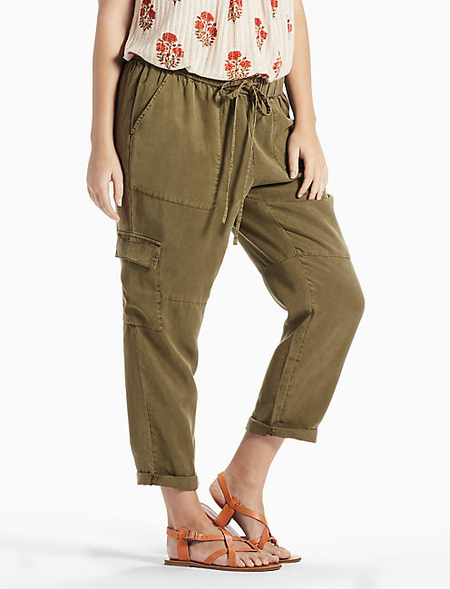 SOLID CARGO PANT, DARK OLIVE
