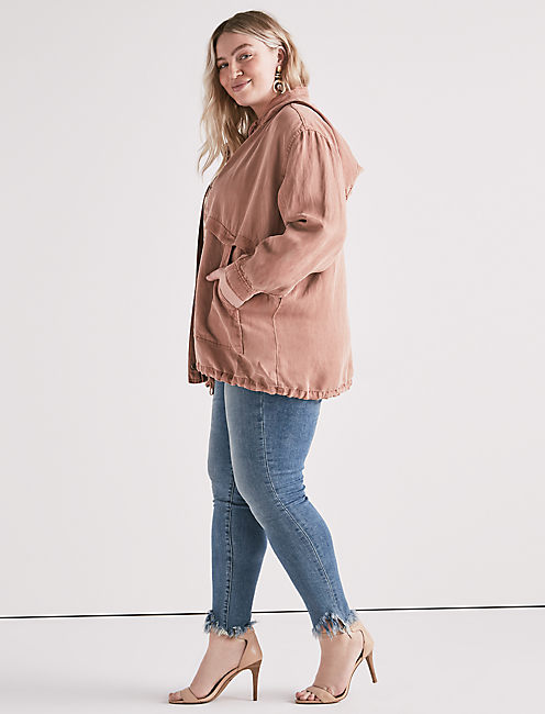 BLUSH HOODED JACKET,