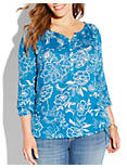 AVALYNN GARDENS TOP, BLUE MULTI