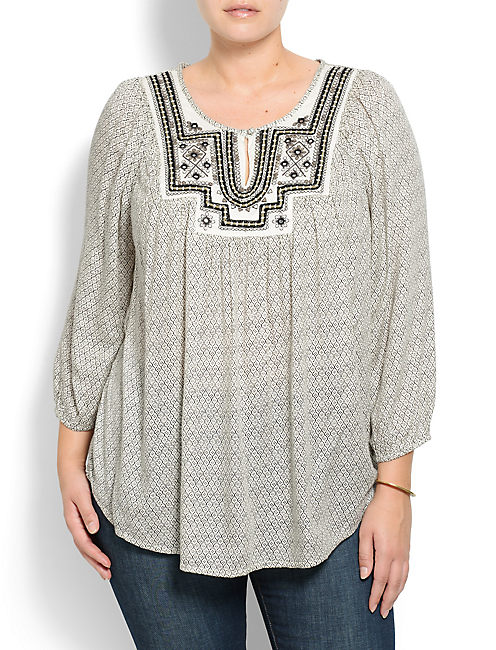 LILAH MIRROR TOP, NATURAL MULTI