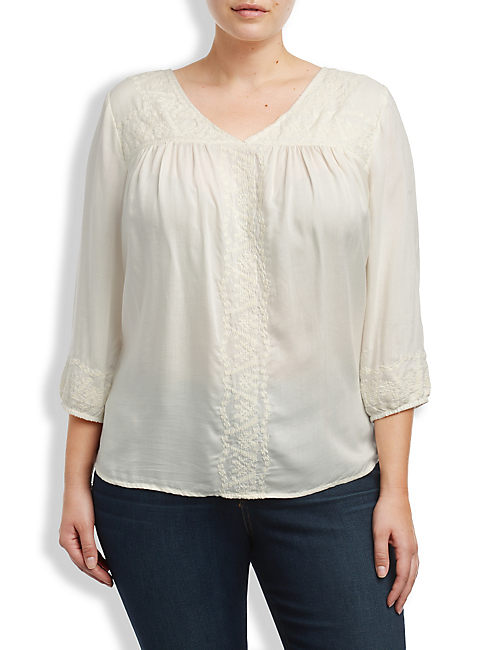 MADELYNN EMBROIDERED TOP, #2413 NIGORI