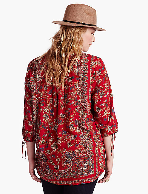 LUCKY FLORAL PAISLEY TOP