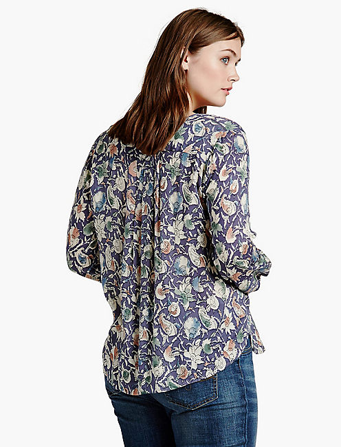 PAINTED FLORAL TOP,