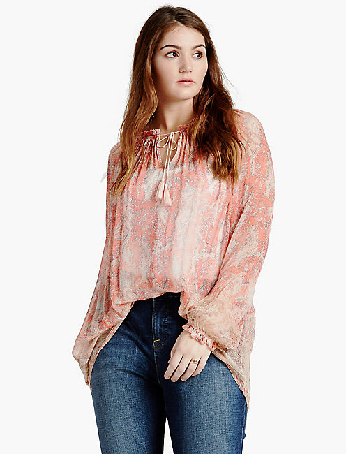 faded paisley top,