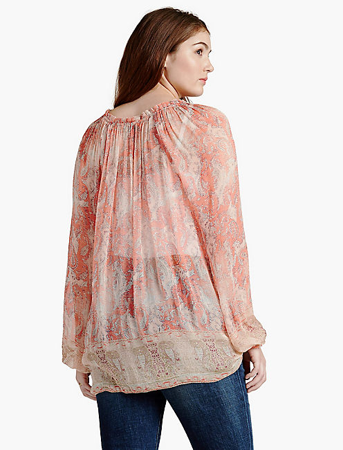 LUCKY faded paisley top