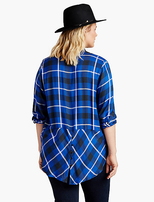 BUNGALOW FLANNEL, BLUE MULTI