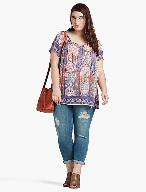 LUCKY TAPESTRY PRINT  BLOUSE