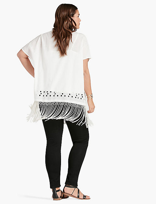 CUTOUT FRINGE TOP,