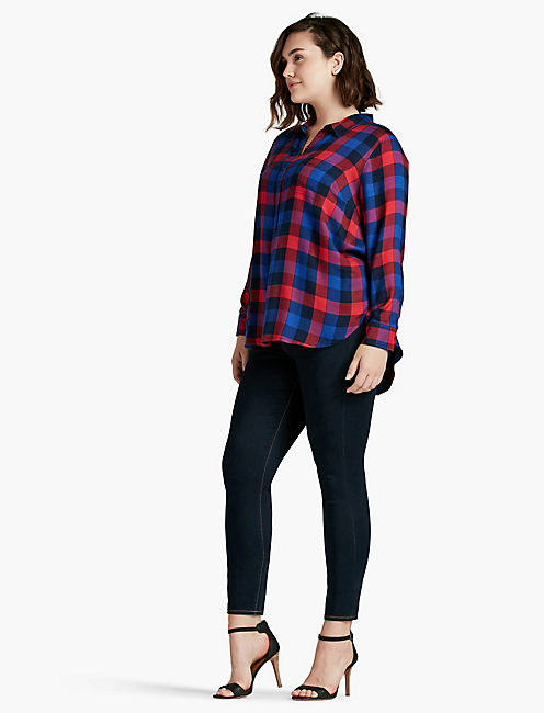 LUCKY BUNGALOW PLAID TOP