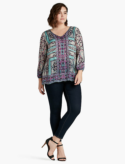LUCKY MOROCCAN BORDER BLOUSE