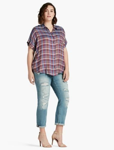 LUCKY SHORT SLEEVE PLAID