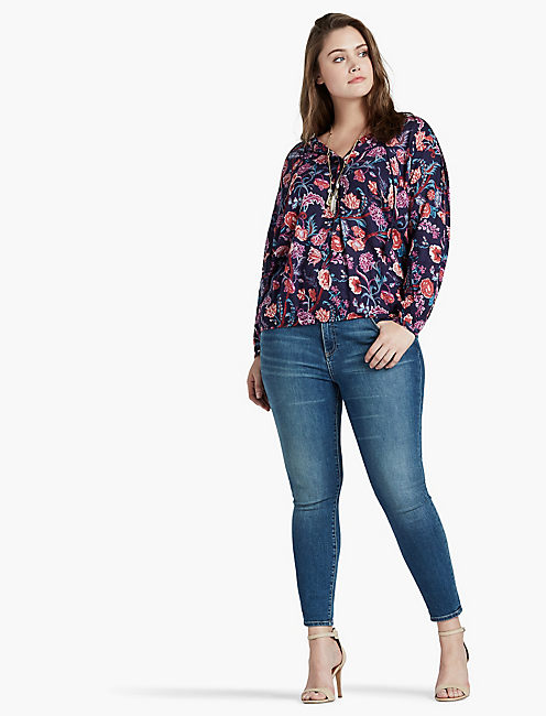LUCKY TASSEL FLORAL BLOUSE
