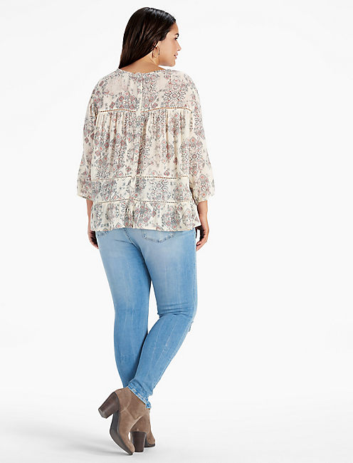 RUFFLE RAW EDGE TOP,