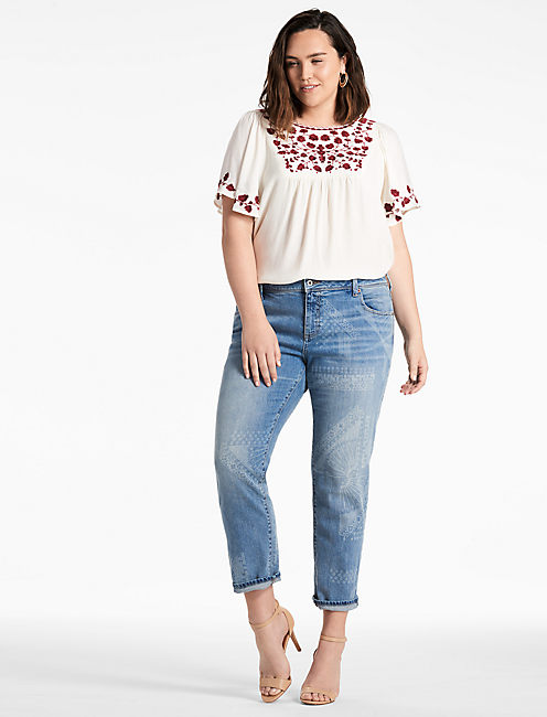 Lucky Hannah Embroidered Top