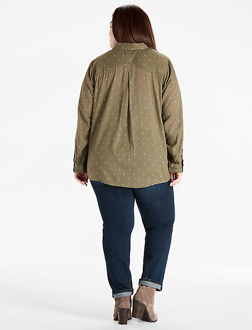 LUCKY YOU SHIRT, DARK OLIVE