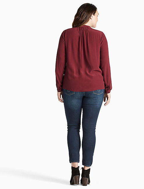 TIE FRONT TOP, port royale