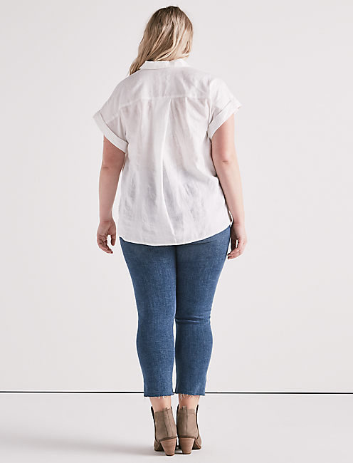 SOLID SHORT SLEEVE TOP,