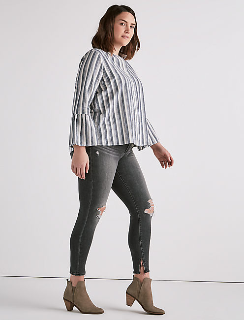 Lucky Striped Hazel Top